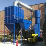 Combustible dust collector system. Dallas, Texas